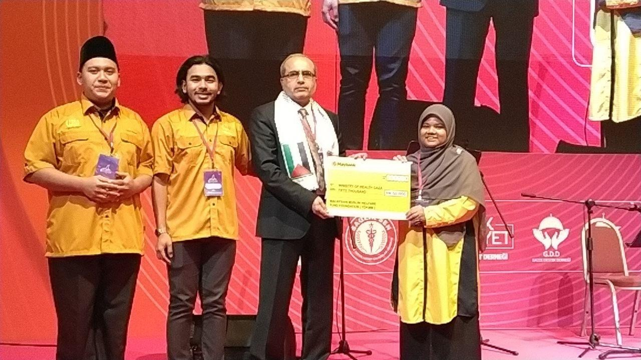 RM 50,000 fund distribution to Ministry of Health Gaza, Palestine in Dec 2019
